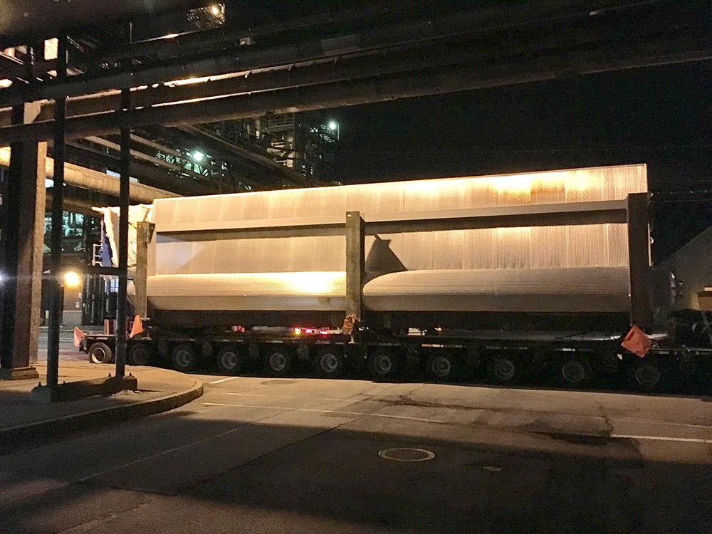 45 Boiler Arriving in Rochester